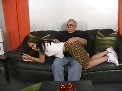 Old and Young Pornstar Spanking