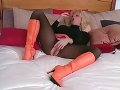 Blonde Mature Nylon