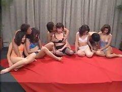 Asian Blowjob Facial Group Sex