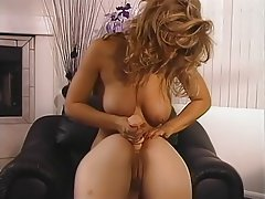 Blonde Big Boobs Lesbian Pornstar Strapon