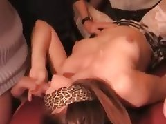 Amateur Brunette Gangbang