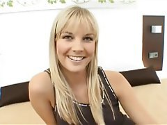 Babe Blonde Casting Czech