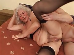 Granny Blowjob Stockings Old and Young
