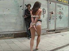 BDSM Brunette Public BDSM