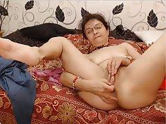 Granny Masturbation Mature Skinny