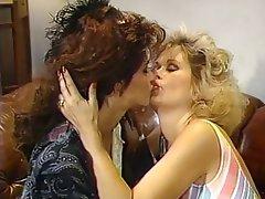 Lesbian Blonde Brunette Nylon Big Boobs