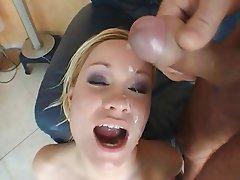 Babe Blonde Cumshot Facial