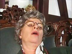 Amateur Close Up German Granny