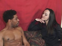 Interracial Blowjob Brunette Vintage