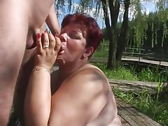 BBW Mature Old and Young Outdoor