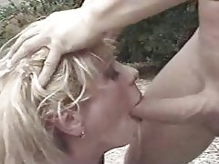 BDSM Facial Outdoor Spanking