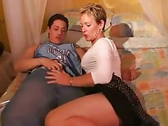 Blonde Cumshot MILF Old and Young