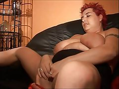 BBW Big Boobs German MILF