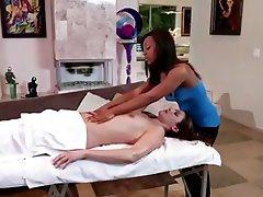 Interracial Lesbian Massage Pornstar