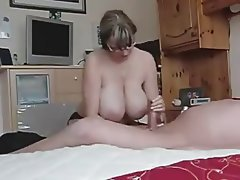 Amateur Big Boobs Handjob MILF