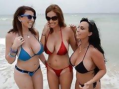 Beach Big Boobs Hardcore MILF Threesome