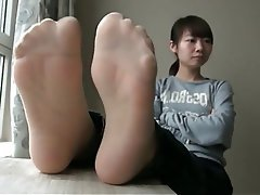 Asian Foot Fetish Nylon Stockings