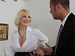 Big Tits Blonde Blowjob MILF