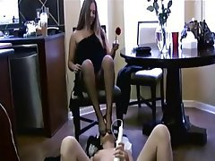 Femdom Foot Fetish Lesbian Masturbation Nylon