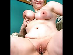 Amateur BBW Close Up Granny