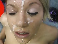 Blowjob Bukkake Cheerleader Facial Group Sex