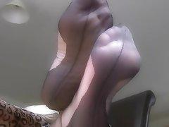 Amateur Foot Fetish Stockings