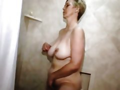 Granny Masturbation Mature Shower