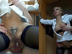 Anal Blonde Facial German