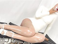 Latex Lesbian Medical Stockings