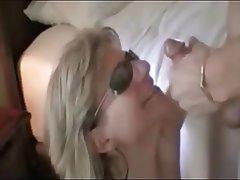 Blonde Brunette Facial Blowjob