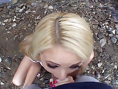 Anal Blonde Blowjob Outdoor