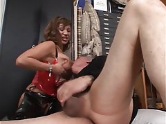 Face Sitting MILF Foot Fetish Latex