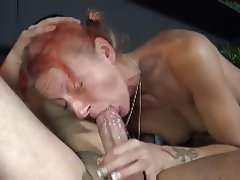 Cumshot Old and Young Amateur Blowjob