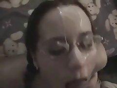 Amateur Blowjob Brunette Facial