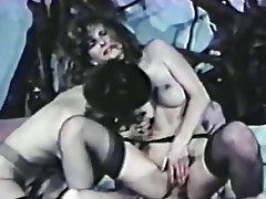 Cunnilingus Stockings Threesome Vintage