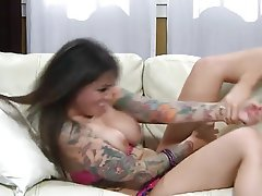 Big Boobs Lesbian MILF Tattoo