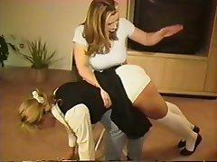 Lesbian Spanking Strapon