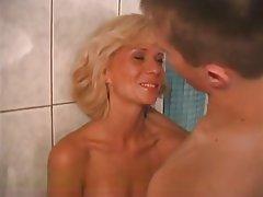 Blonde Blowjob Cumshot MILF