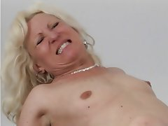 Blowjob Facial Blonde Granny