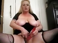 BBW Big Boobs Blonde Masturbation