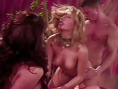 Brunette Group Sex Facial Bisexual