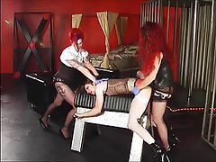 Stockings Strapon Threesome