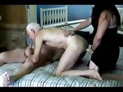 Bisexual Old and Young Threesome