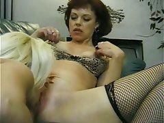 Lesbian Blonde Brunette Nylon
