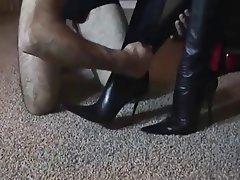 Femdom Foot Fetish German Stockings