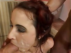 Anal Blowjob Threesome Brunette