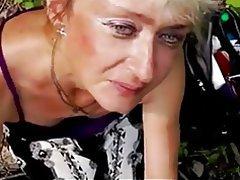 Amateur Blonde Mature Outdoor