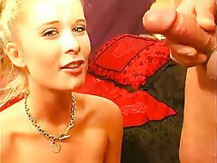 Babe Blonde Blowjob Facial