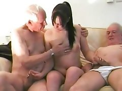 Blowjob Brunette Handjob Old and Young