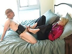 BDSM Blonde Cumshot Foot Fetish